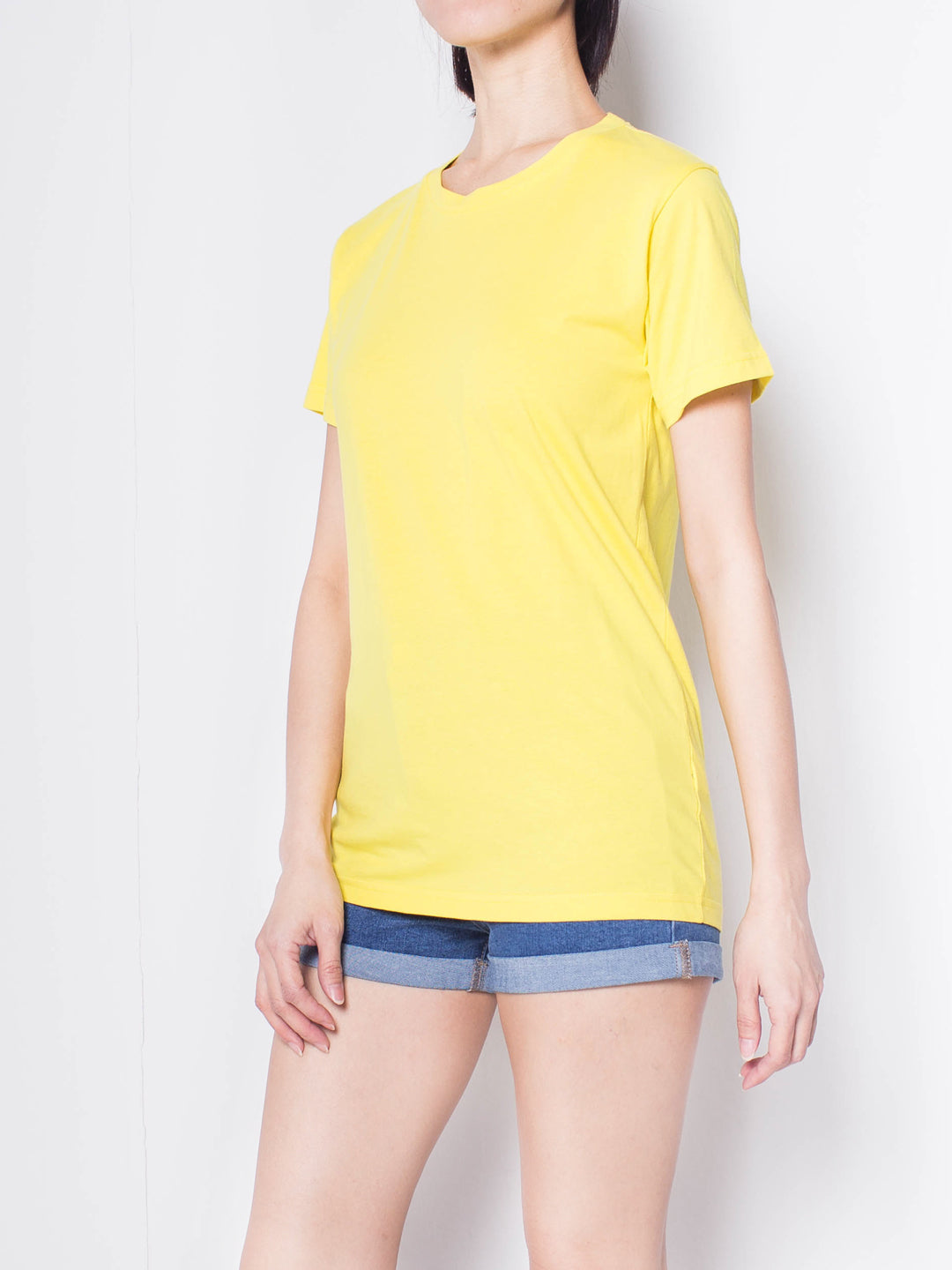 Women Short Sleeve T-Shirt - Light Yellow