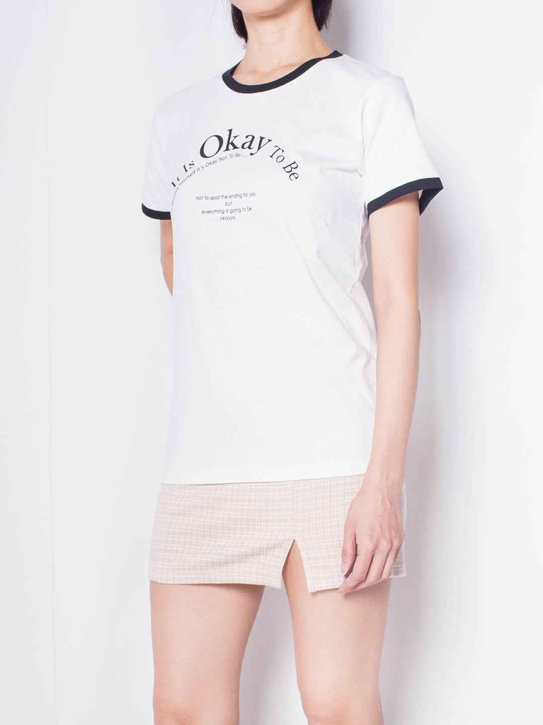 Women Graphic Short Sleeve T-Shirt - White