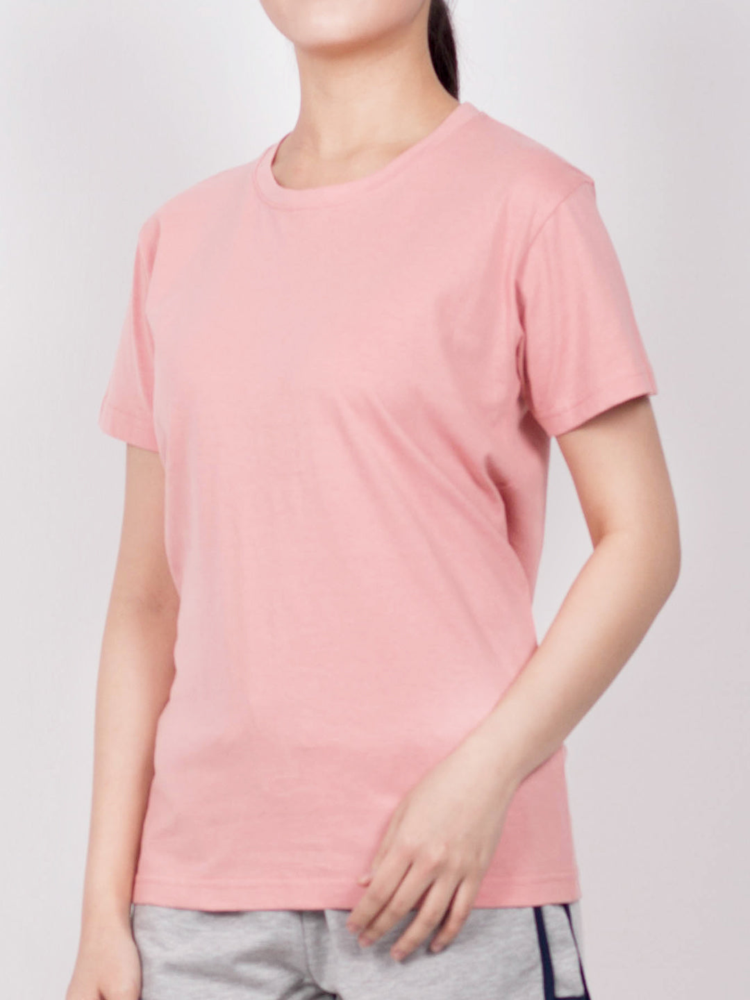 Women Short Sleeve T-Shirt - Light Pink - RFH20F2178