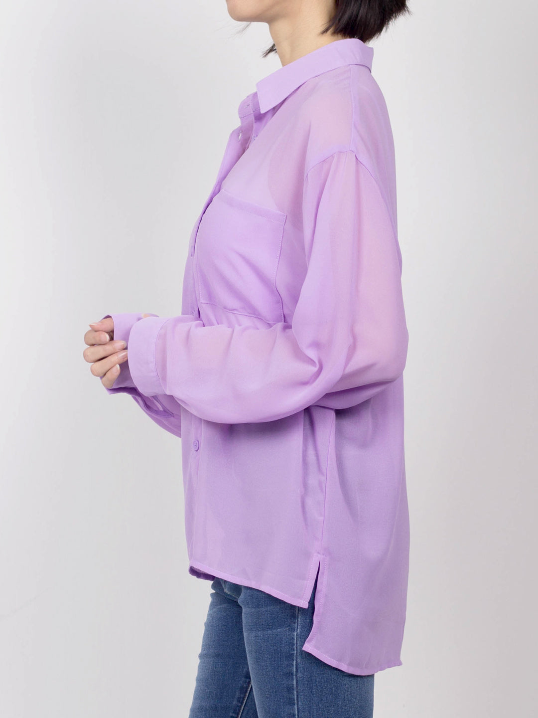 Women Long Sleeve Shirt - Purple