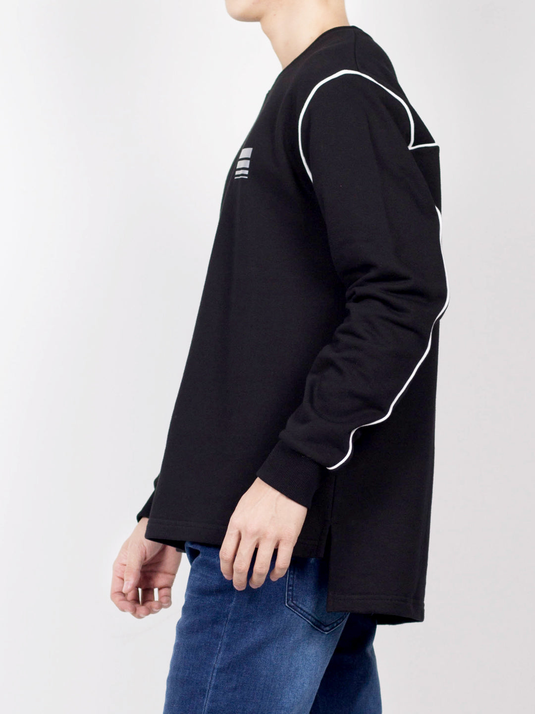 Men Long Sleeve Sweatshirt - Black - CPH20H2663