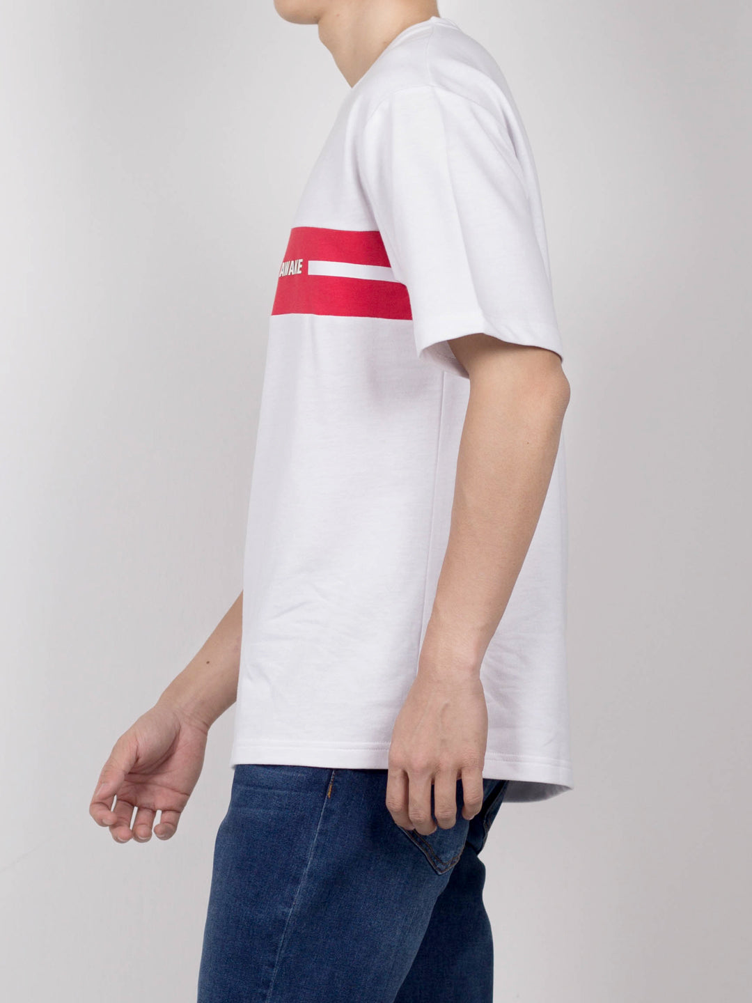 Men Oversize Slogan Short Sleeve T-Shirt - White