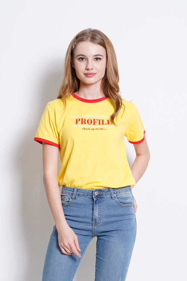 Short Sleeve Graphic Tee - Yellow