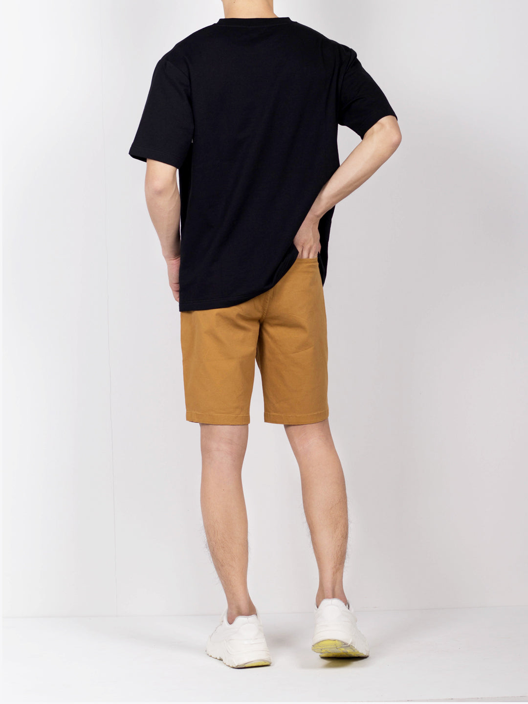 Men Oversize Fashion Short Sleeve Tee  - Black