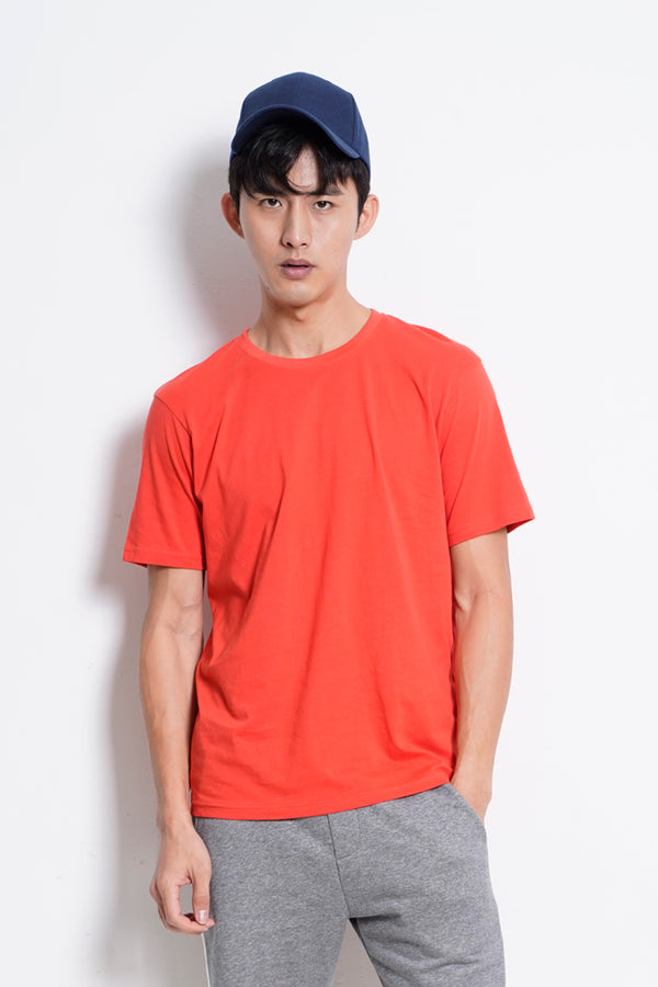 Plain Short Sleeve Tee - Dark Orange