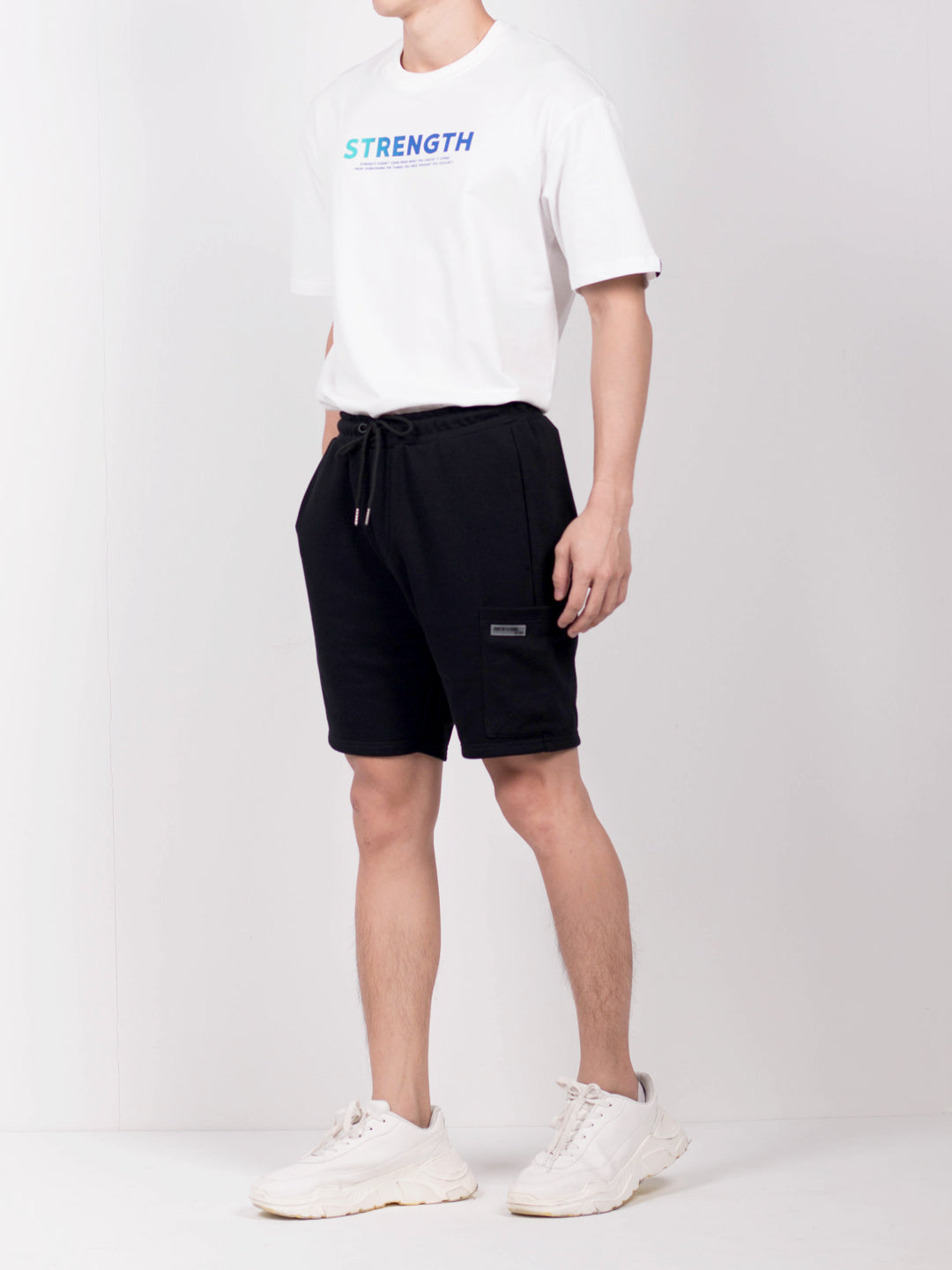 Men Short Knit Jogger - Black