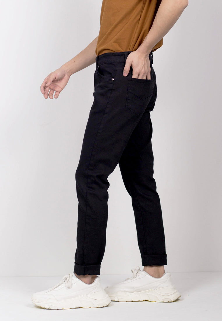Men Skinny Fit Long Jeans - Black - THM20H2451