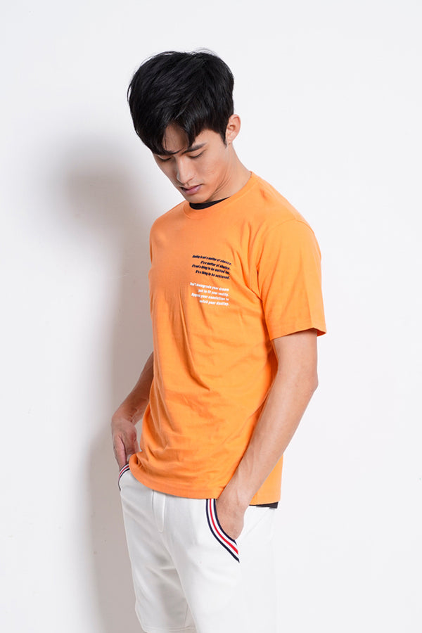 Graphic Short Sleeve T-Shirt - Orange