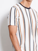 Stripe Short Sleeve T-Shirt - White