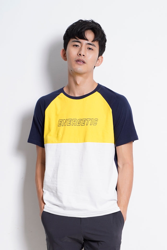 Raglan Short Sleeve T-Shirt - Navy