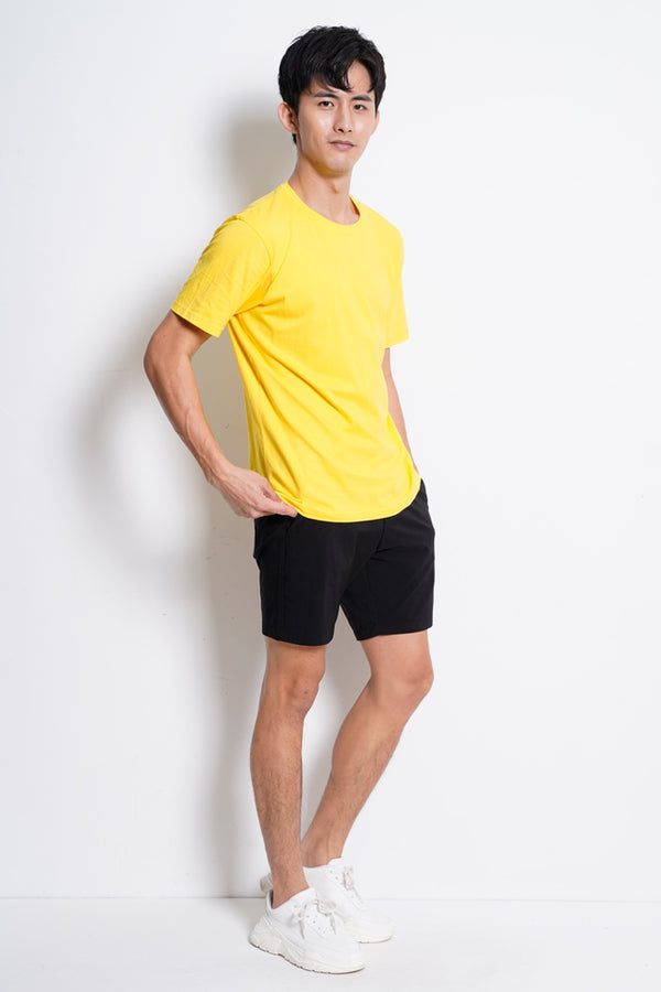 Plain Short Sleeve Tee - Yellow