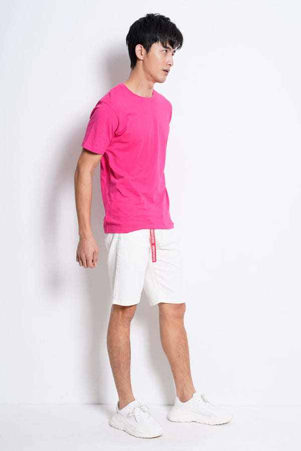 Plain Short Sleeve Tee - Dark Pink