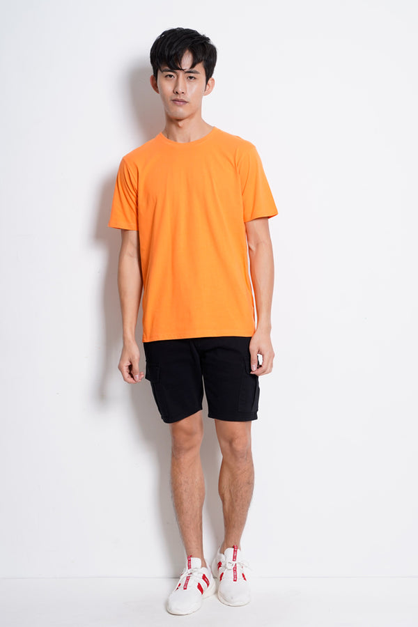 Plain Short Sleeve Tee - Orange