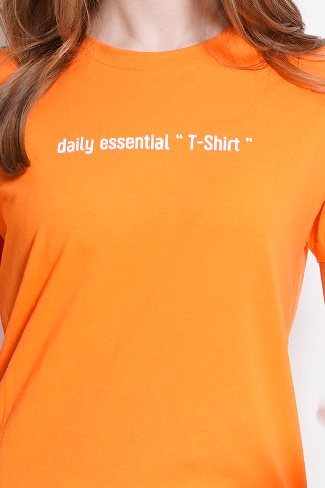Short Sleeve Graphic Tee - Light Orange