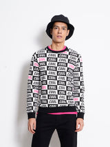 Full Print Long Sleeve Sweatshirt - Black