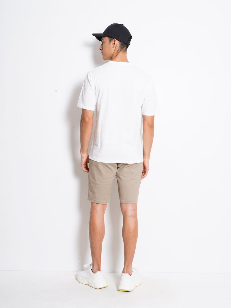 Short Sleeve Fashion Tee - White