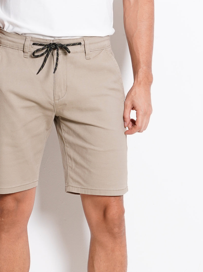 Drawstring Short Pants - Khaki