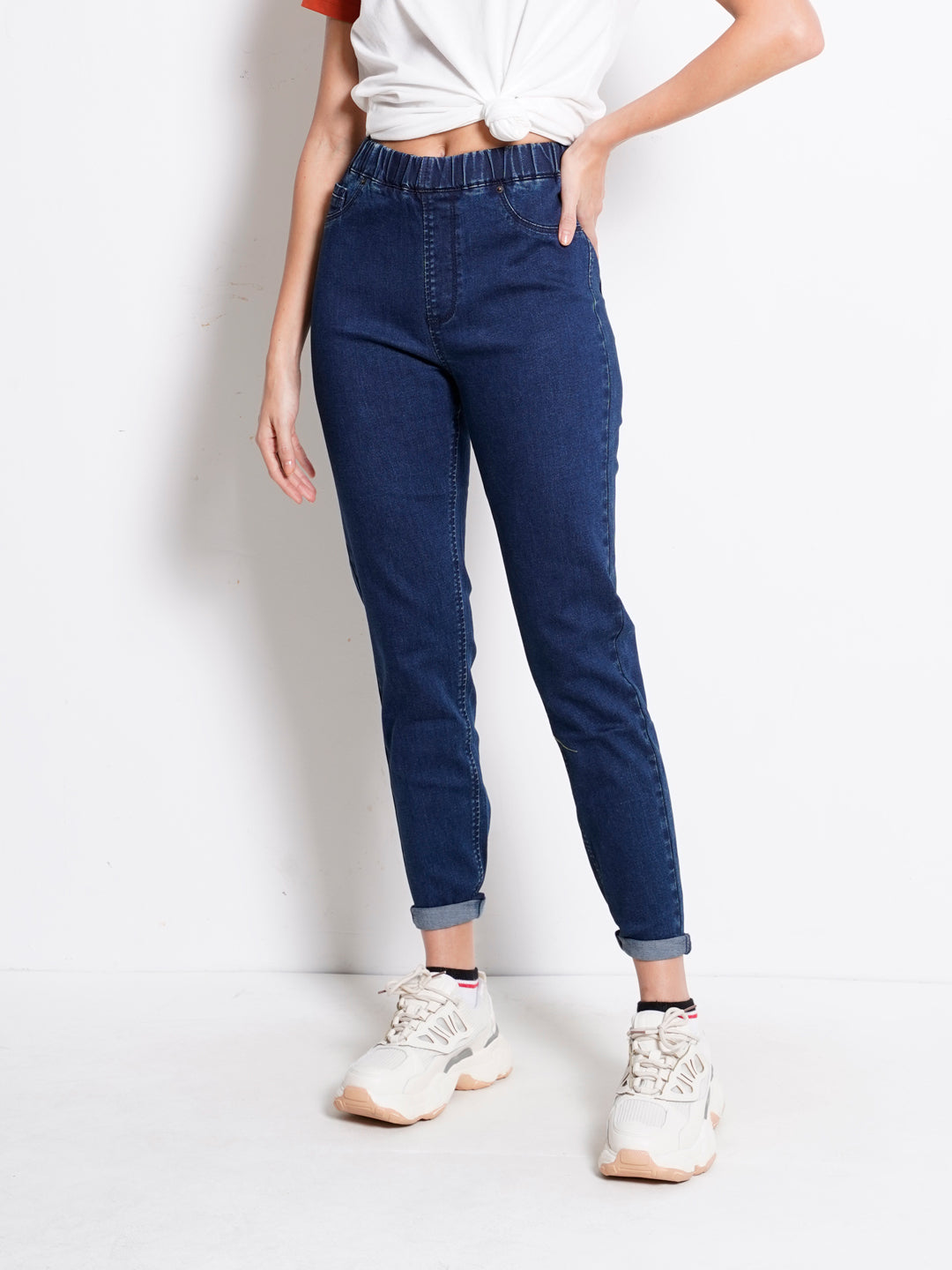 Women Jeans Jegging - Dark Blue - KQM20F2138
