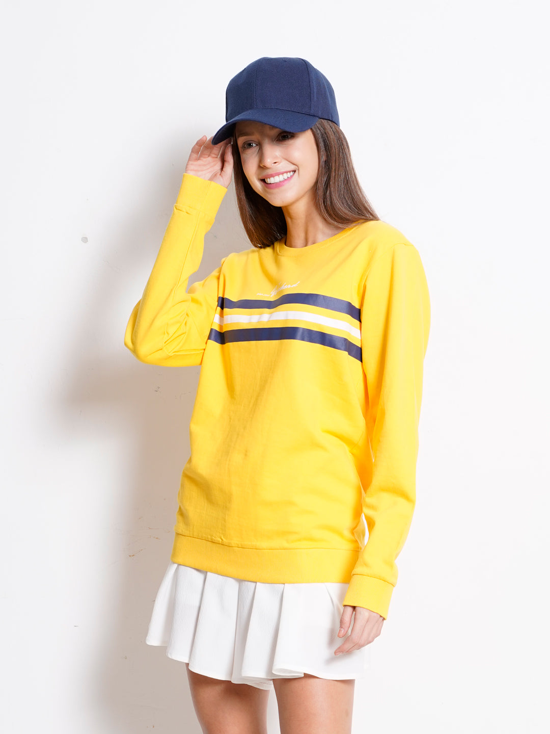 Women Long Sleeve Sweatshirt - Yellow - GTM20F2061
