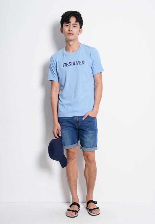 Graphic Short Sleeve T-Shirt - Light Blue