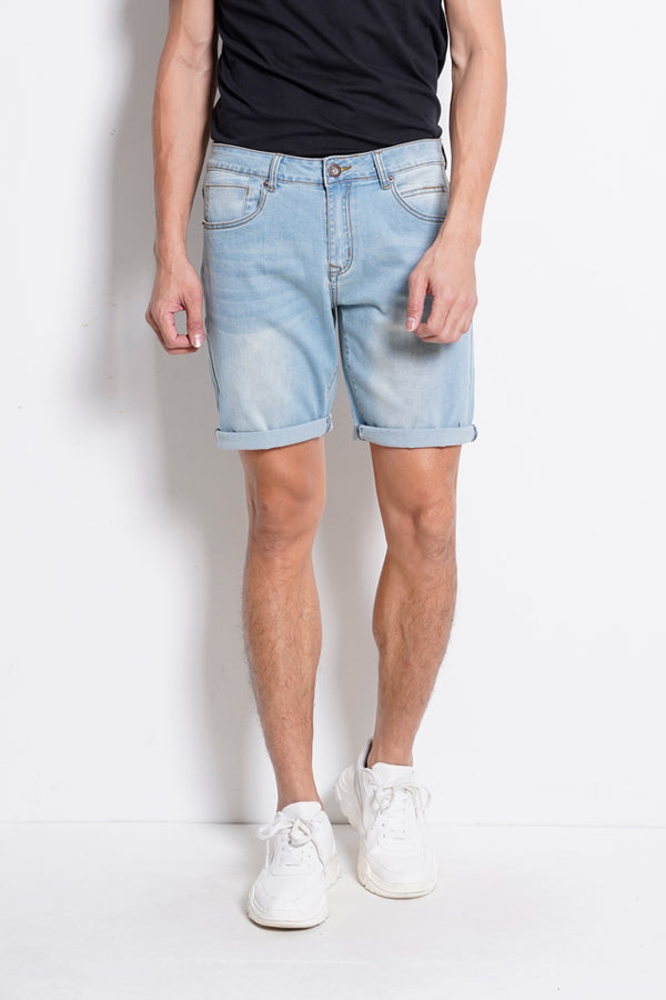 Denim Bermuda Shorts - Light Blue