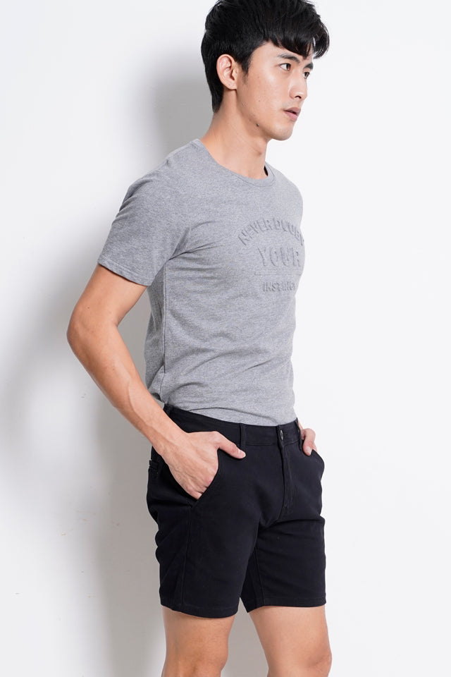 Skinny Short Chinos - Black
