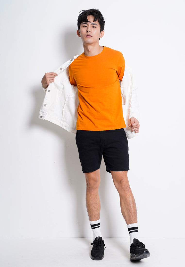 Plain Short Sleeve T-Shirt - Orange