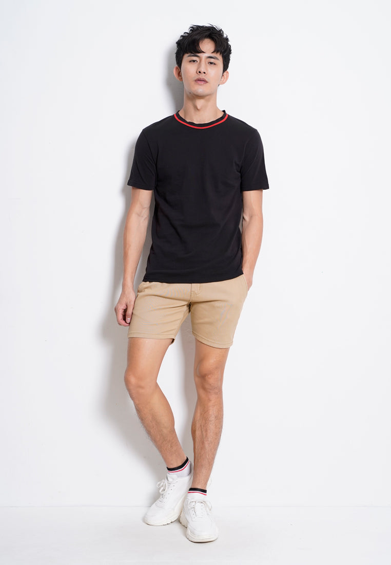 Men Short Sleeve Trend Tee - Black