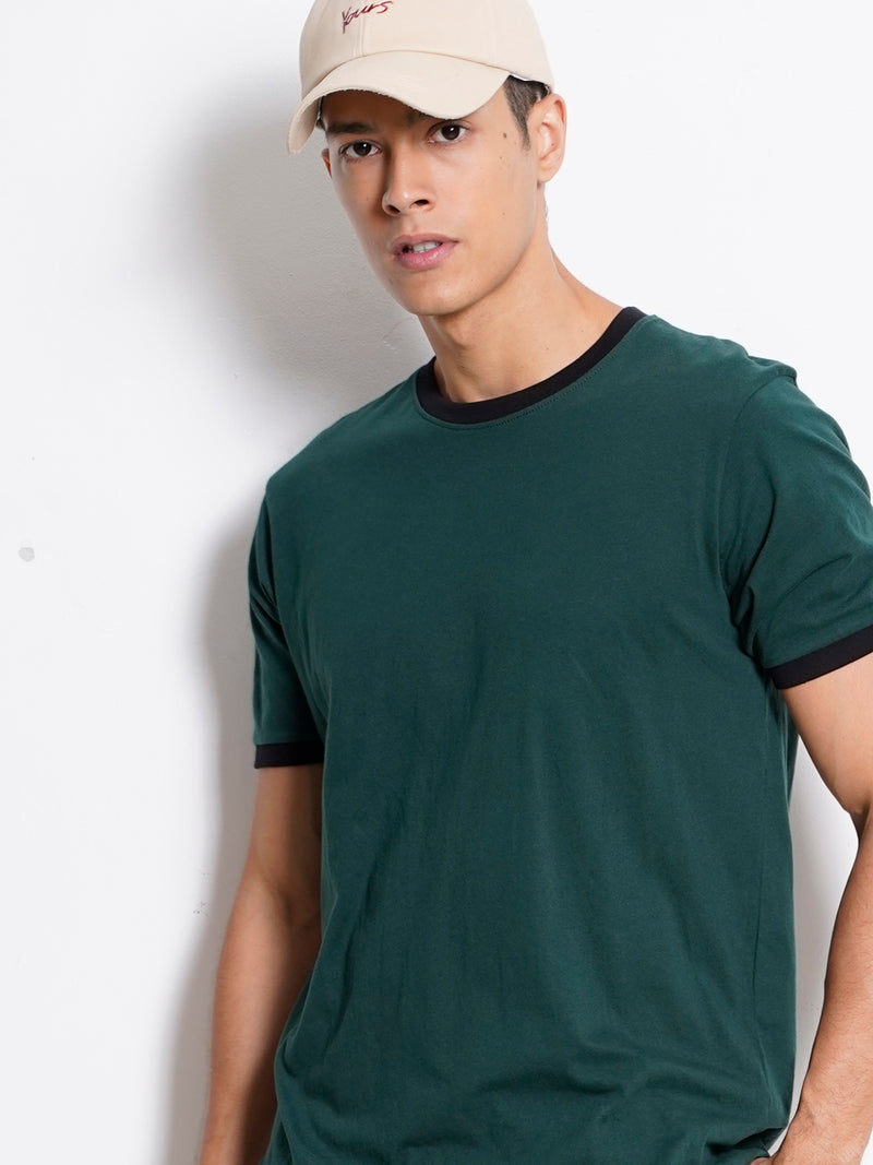 Plain Short Sleeve Tee - Dark Green