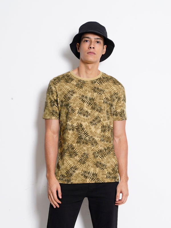 Graphic Short Sleeve T-Shirt - Khaki