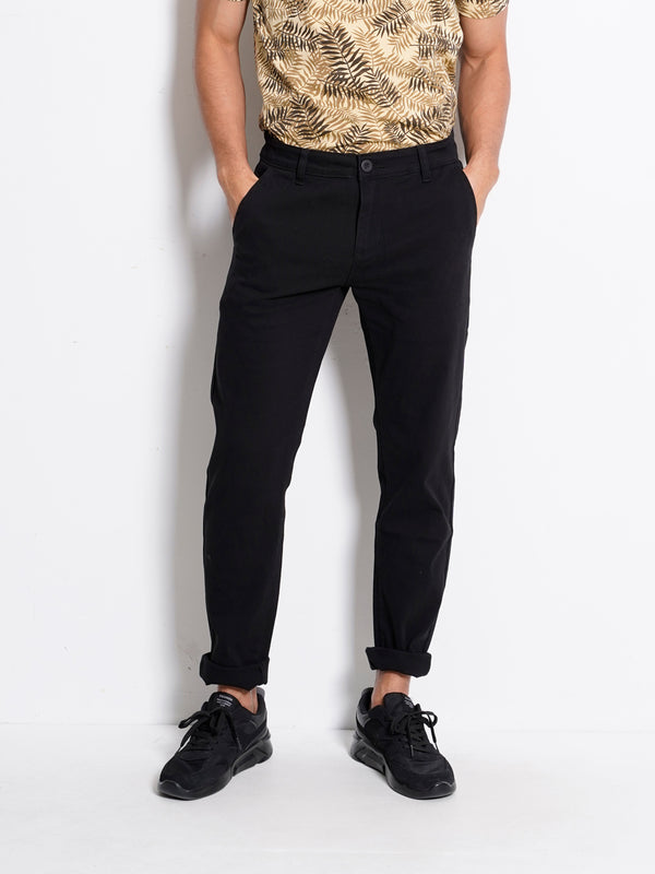 Slim Fit Long Jeans - Black