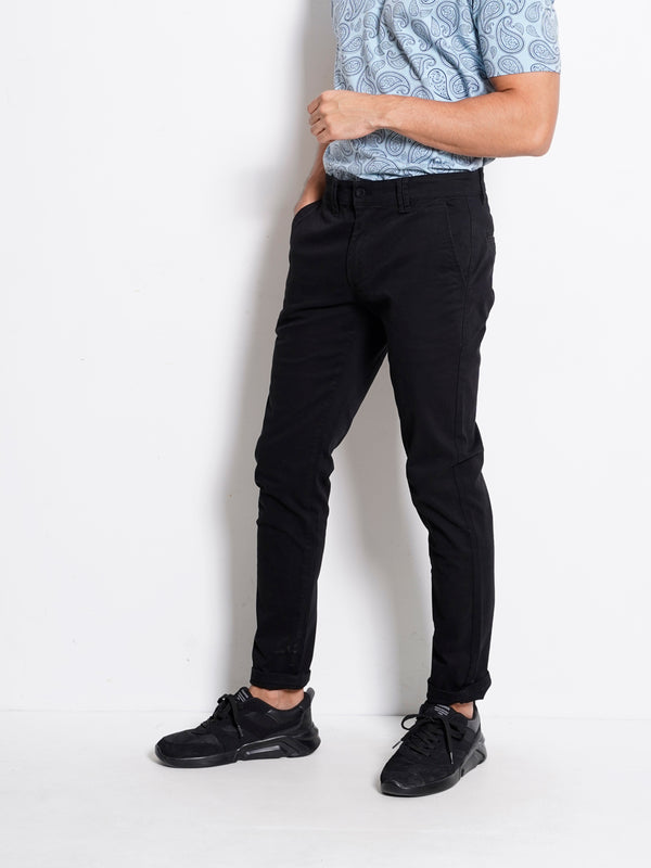 Long Pants Slim Fit - Black