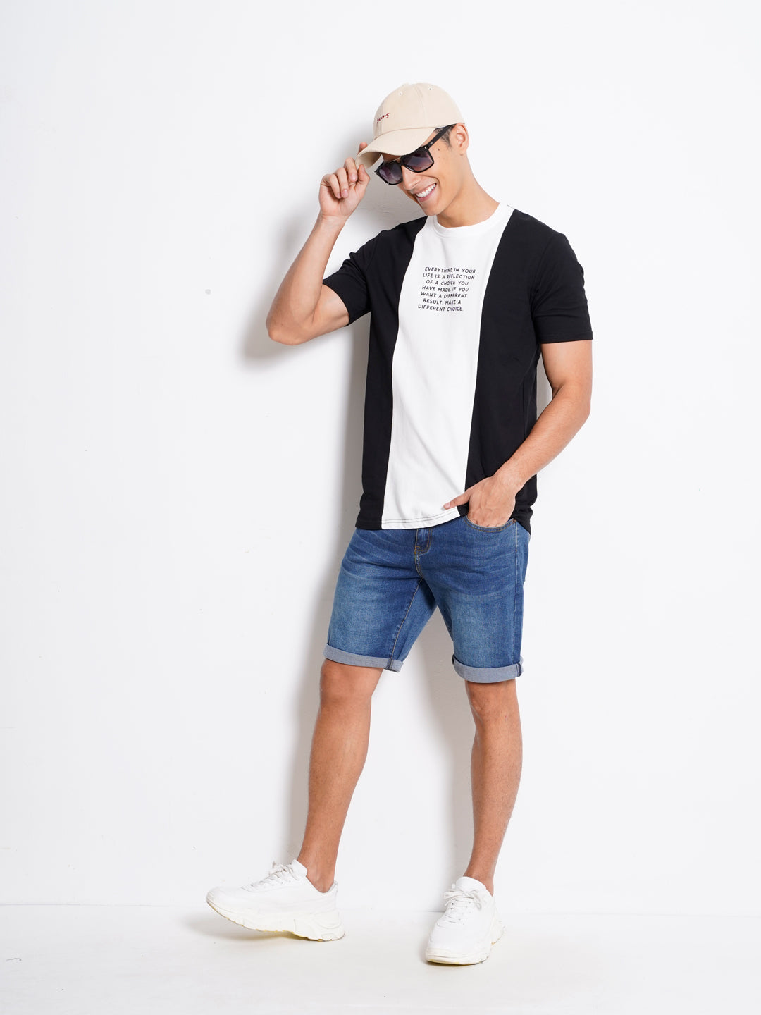 Men Short Sleeve Fashion Tee - Black