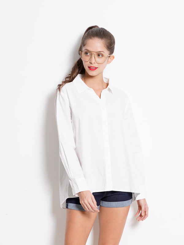 Long Sleeve Shirt - White