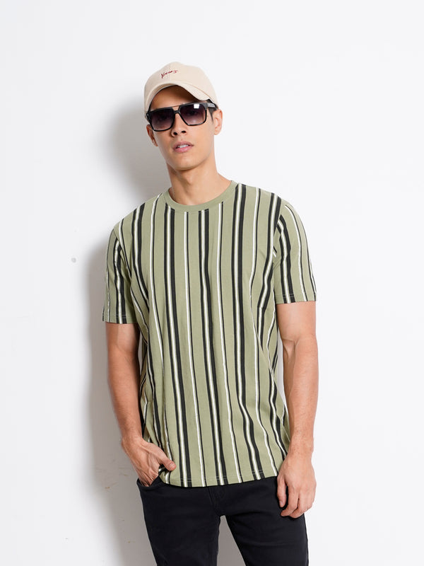 Stripe Short Sleeve T-Shirt - Green