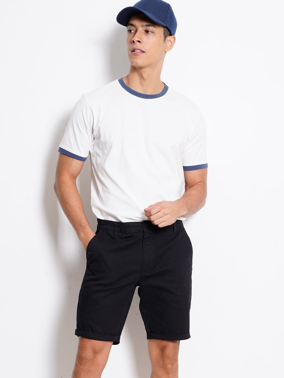 Men Short Pants Chinos- Black - KQF20H2575