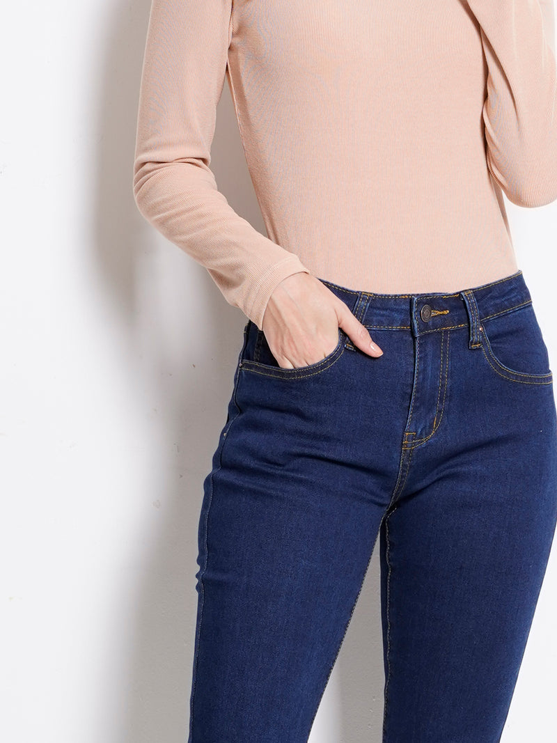 Skinny Fit Long Jeans - Blue