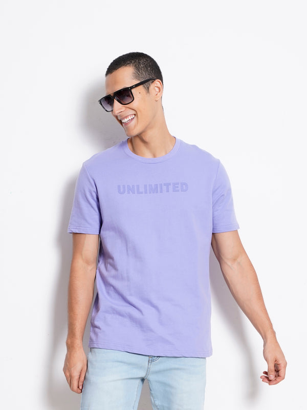 Short Sleeve Fashion Tee - Purple