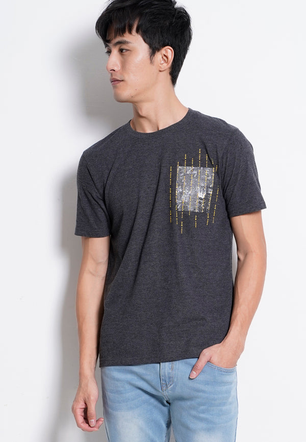 Short Sleeve Graphic Tee - Dark Grey