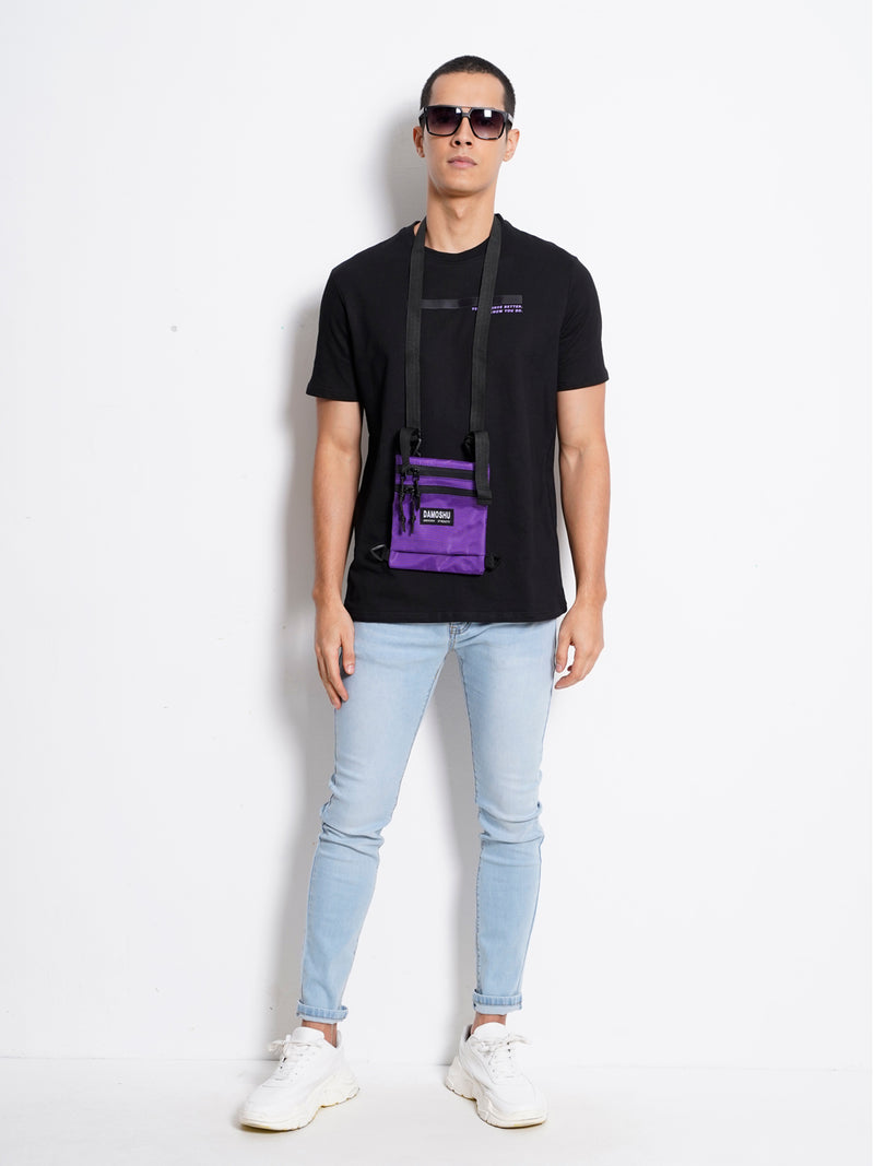 Short Sleeve Fashion Tee - Black