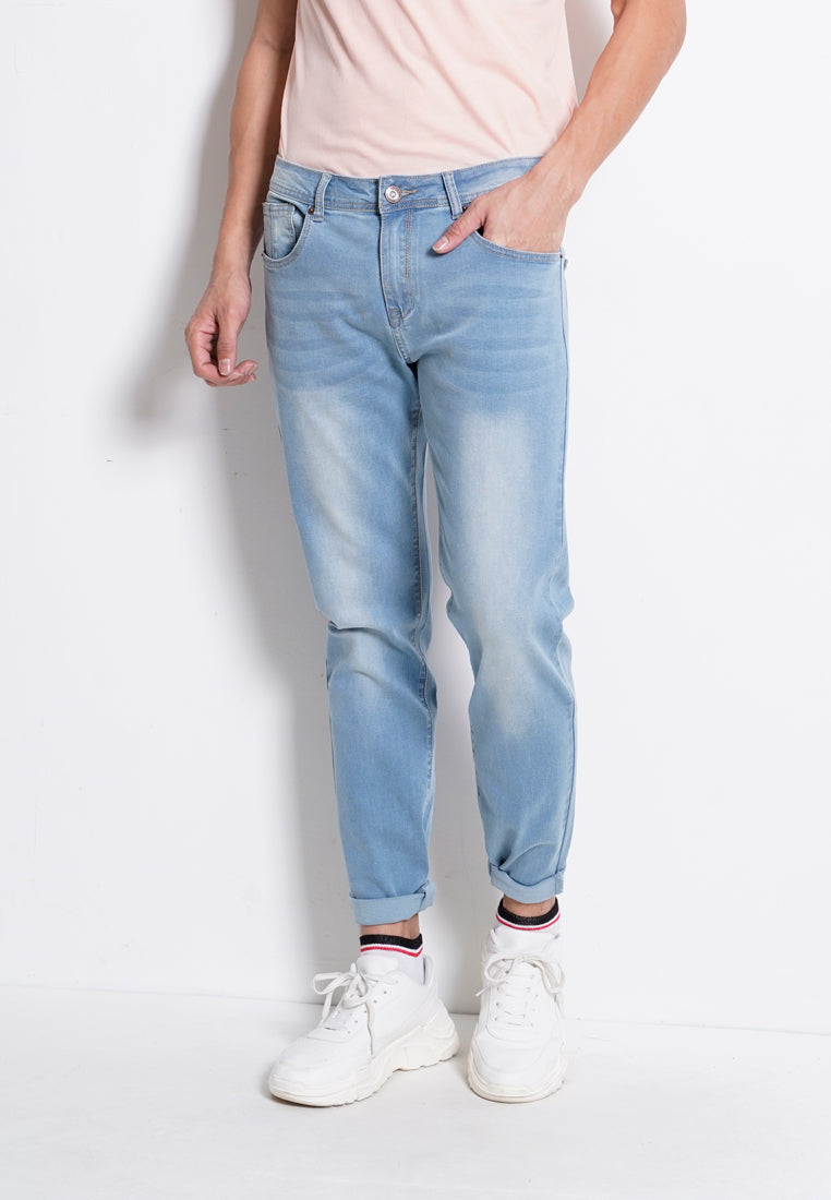 Slim Fit Long Jeans - Light Blue