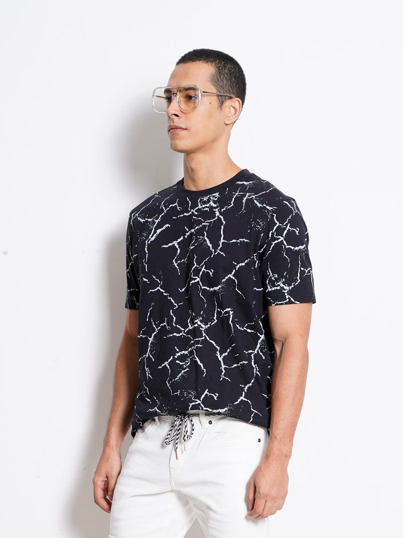Graphic Short Sleeve T-Shirt - Black
