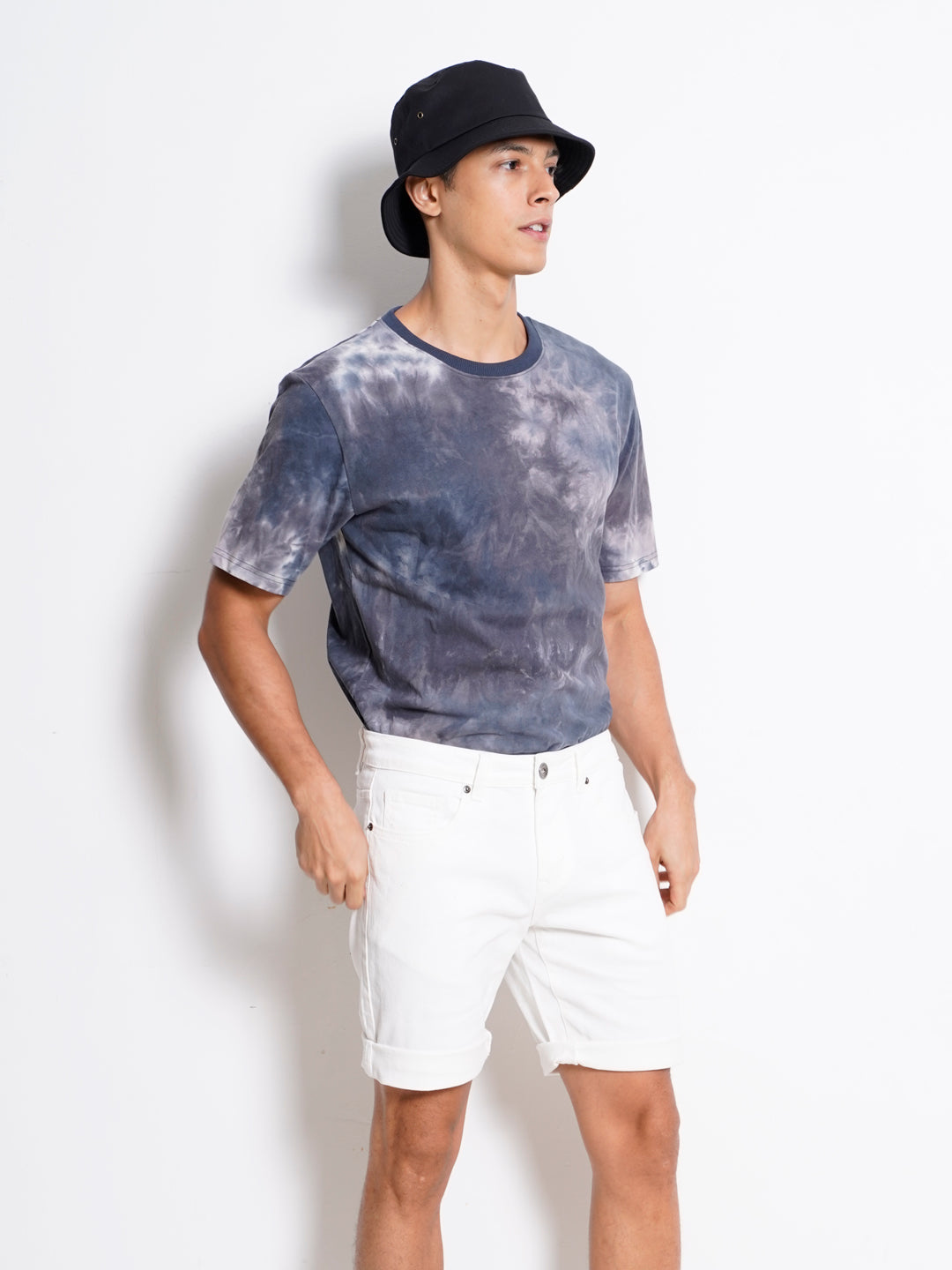 Men Short Jeans - White