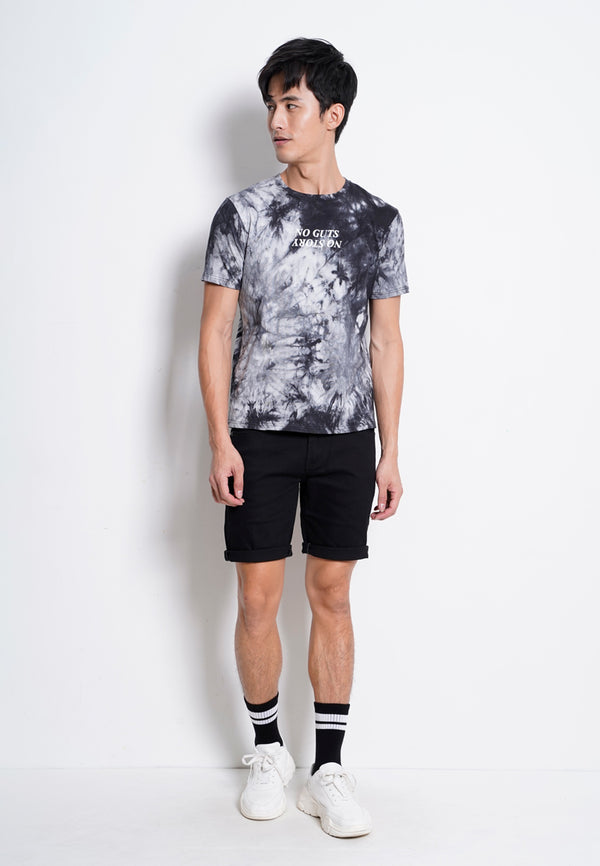 Tie Dyed Fashion Tee - Black