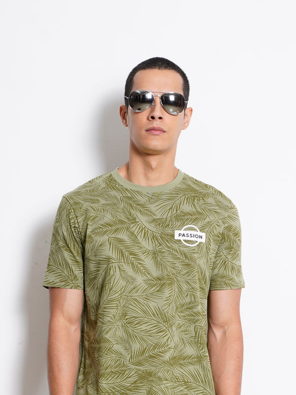 Full Print Short Sleeve T-Shirt - Green