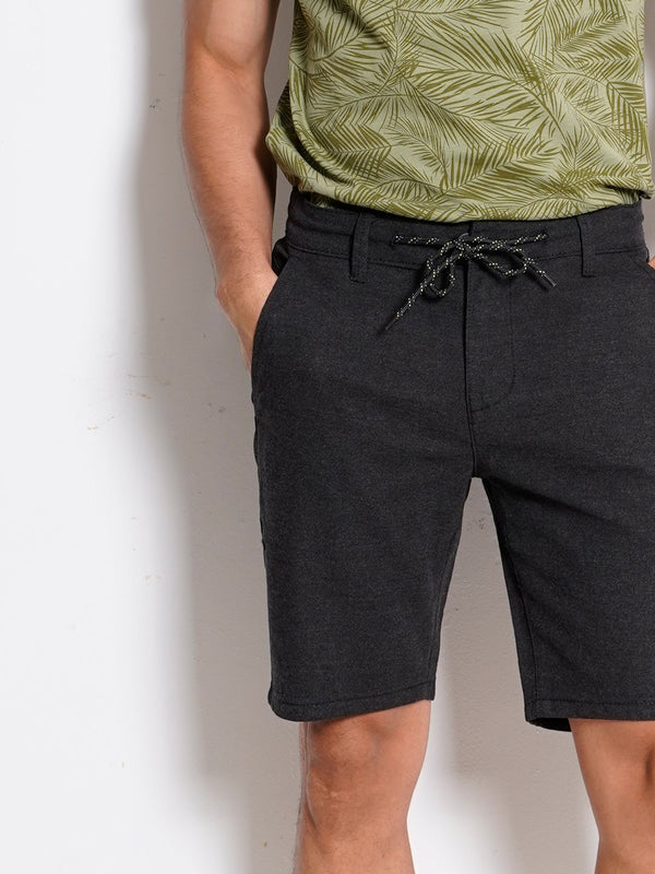 Short Pants With Drawstring - Black