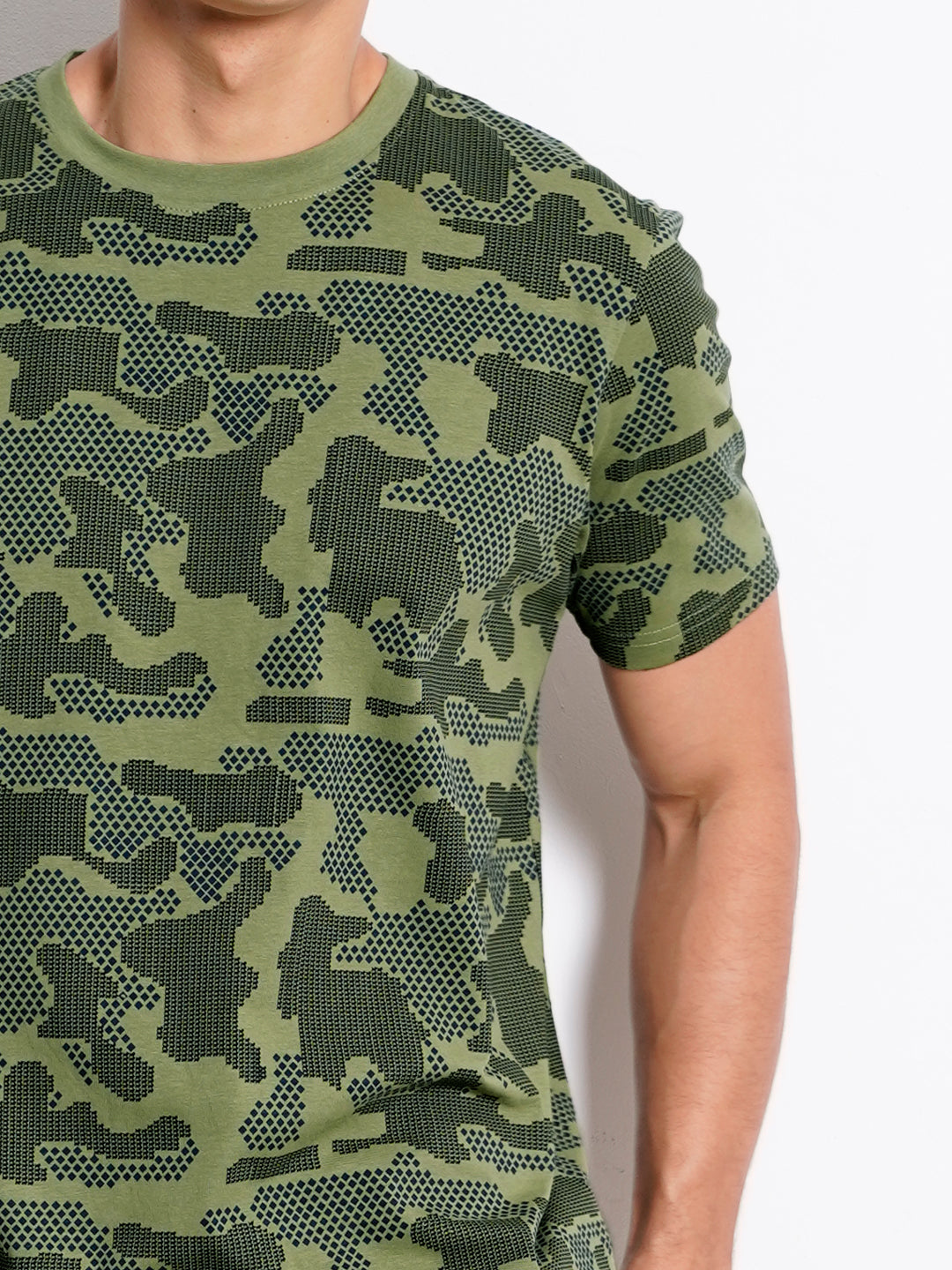 Men Graphic Short Sleeve T-Shirt - Green