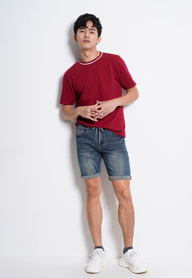 Men Denim Bermuda Shorts - Blue - KQS20H2404