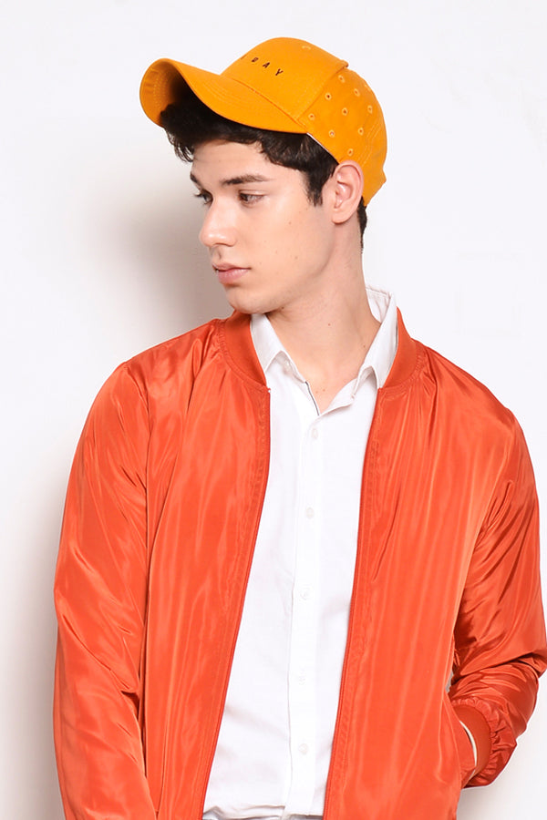 Nylon Bomber Jacket  - Red Orange