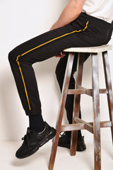 Long Pants Jogger With Side Taping - Black